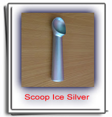 Order Scoop Ice Cream Black Silver - Skop Es Krim Impor