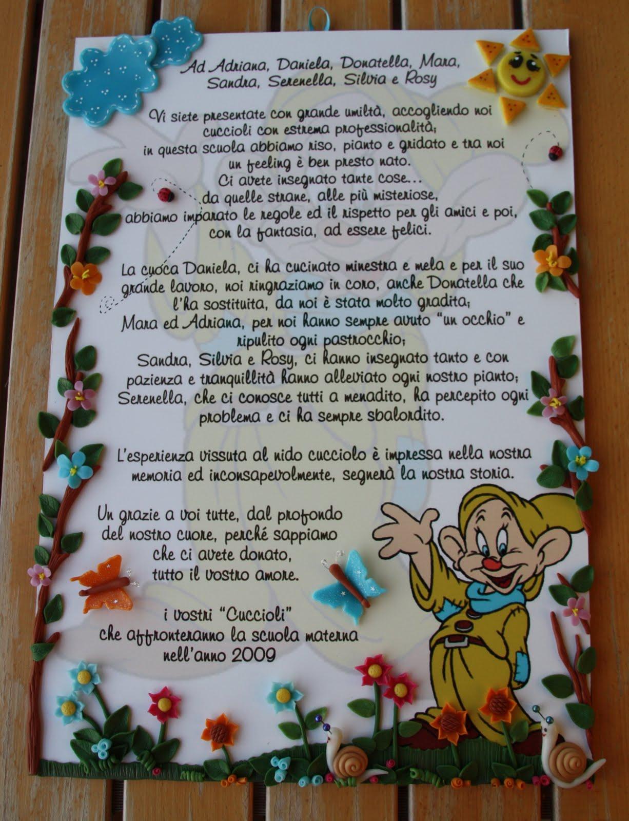 frasi per maestre d'asilo - Poesie per la maestra da dedicare per la fine dell'anno
