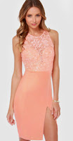 http://www.lulus.com/products/the-fox-bright-peach-lace-dress/133314.html