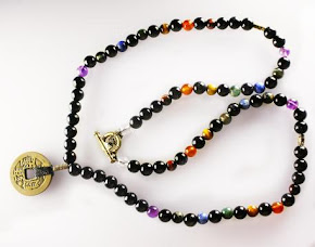 7 Chakras and Onyx with coins necklace