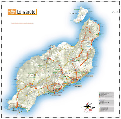 (Canary Islands) - Lanzarote map