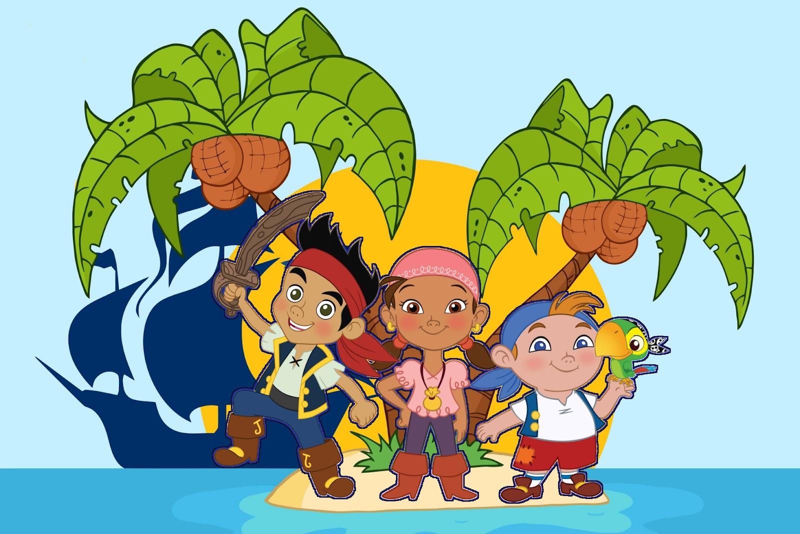 Jake Y Los Piratas De Nunca Jam  S  Invitaciones Para Imprimir Gratis
