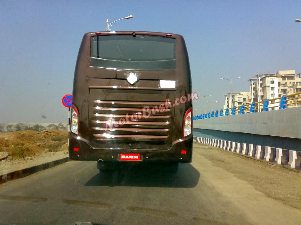 Spy Images Mahindra S First Intercity Bus Wheel O Mania