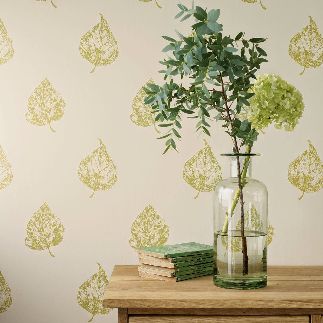 Decoración Laura Ashley botella de cristal verde