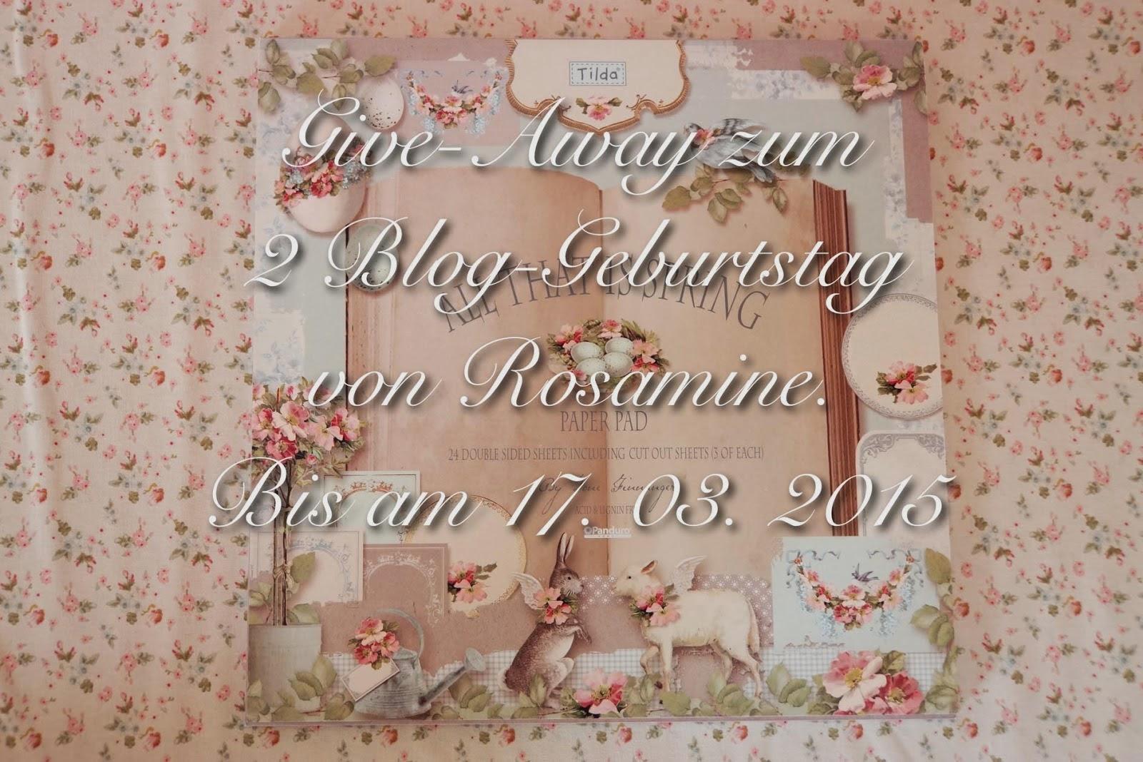 Giveaway bei Rosamine bis zum 17.03.2015