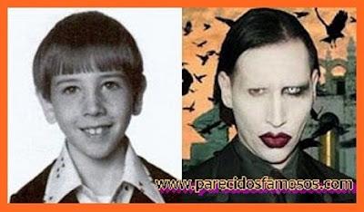 Marilyn Manson antes y después
