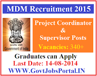 MDM GUJARAT RECRUITMENT 2015