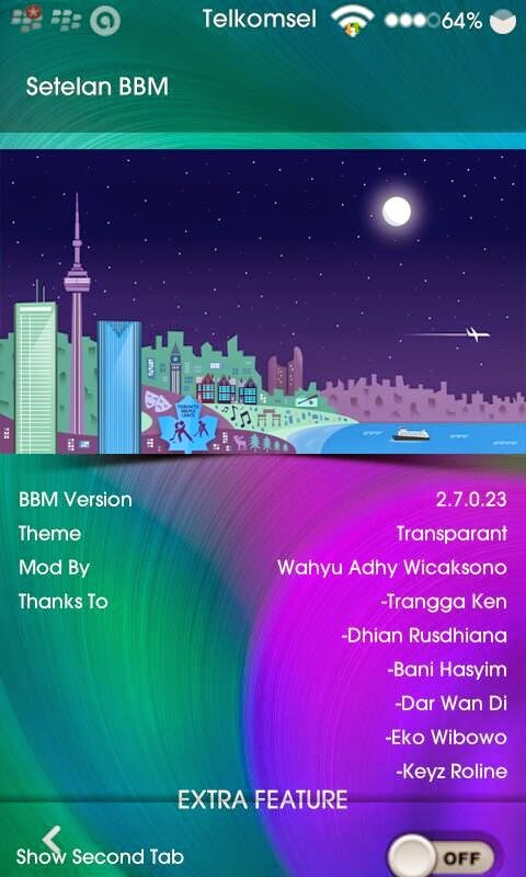 Download BBM Mod Transparan v2.7.0.23 Apk