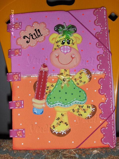 GOMA EVA O FOAMI: muñecas country,tapa para carpeta