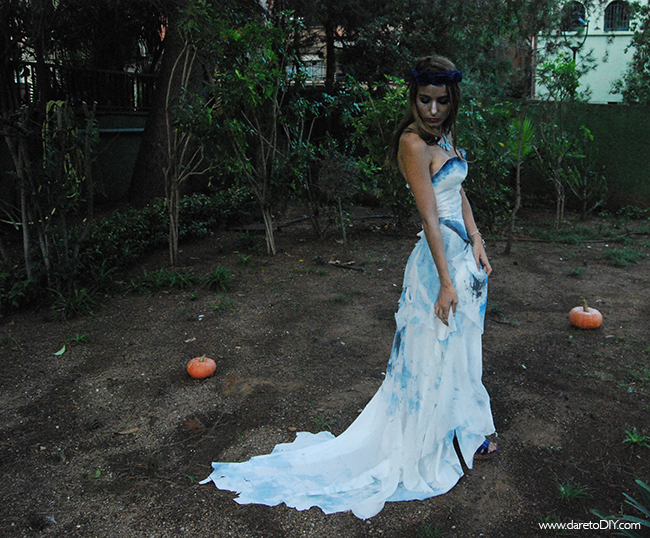 dare to diy: diy halloween: total look novia cadáver (disfraz +