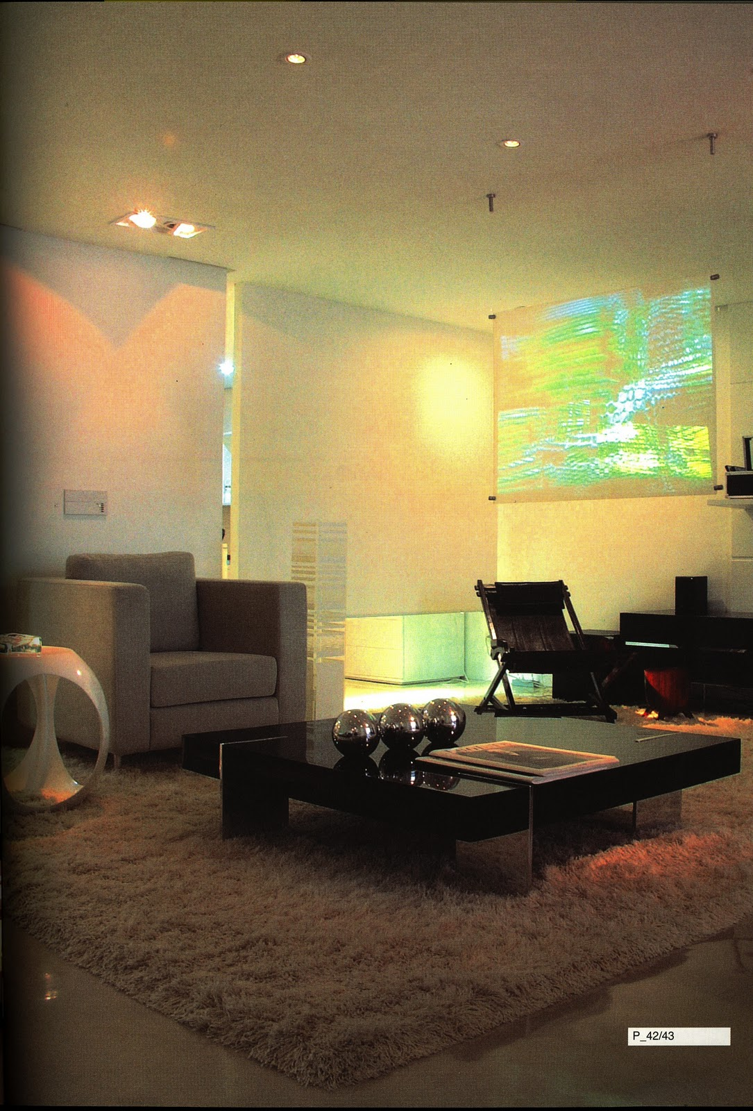 Arqui farofa arquitetura e design home theater sala de estar - Sala home theatre ...
