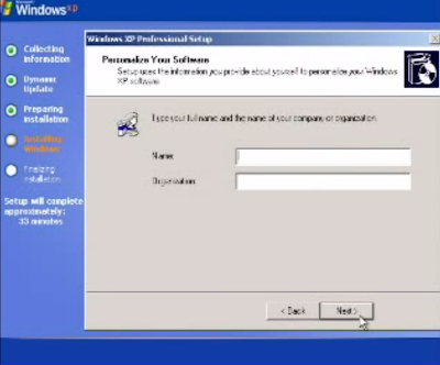 cara instal windows xp