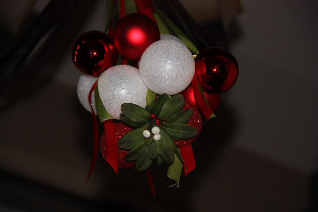 Mistletoe and Ornament Chandelier