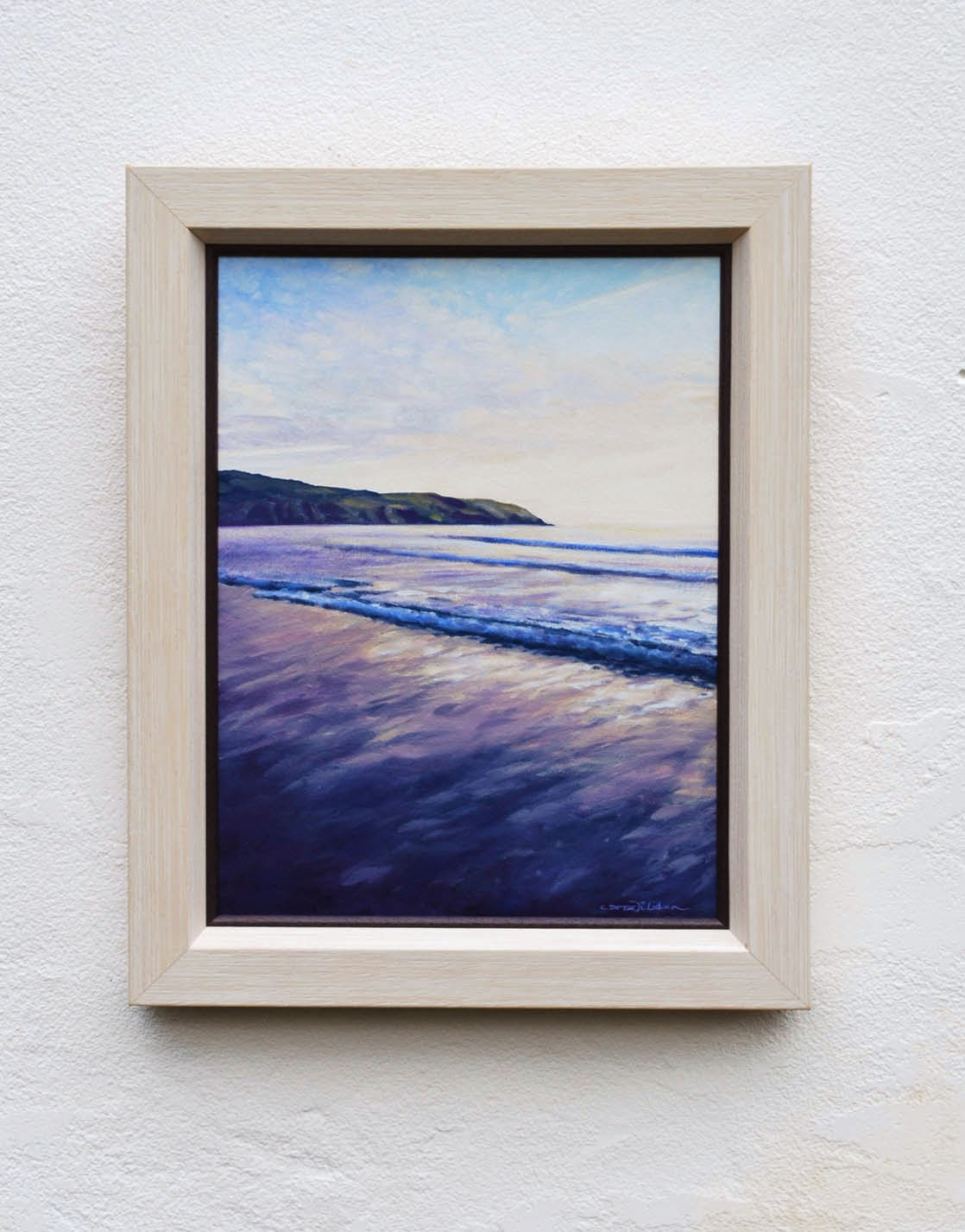 Baggypoint, putsborough beach, oil painting, north devon