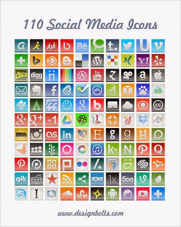 110 Social Media Icons