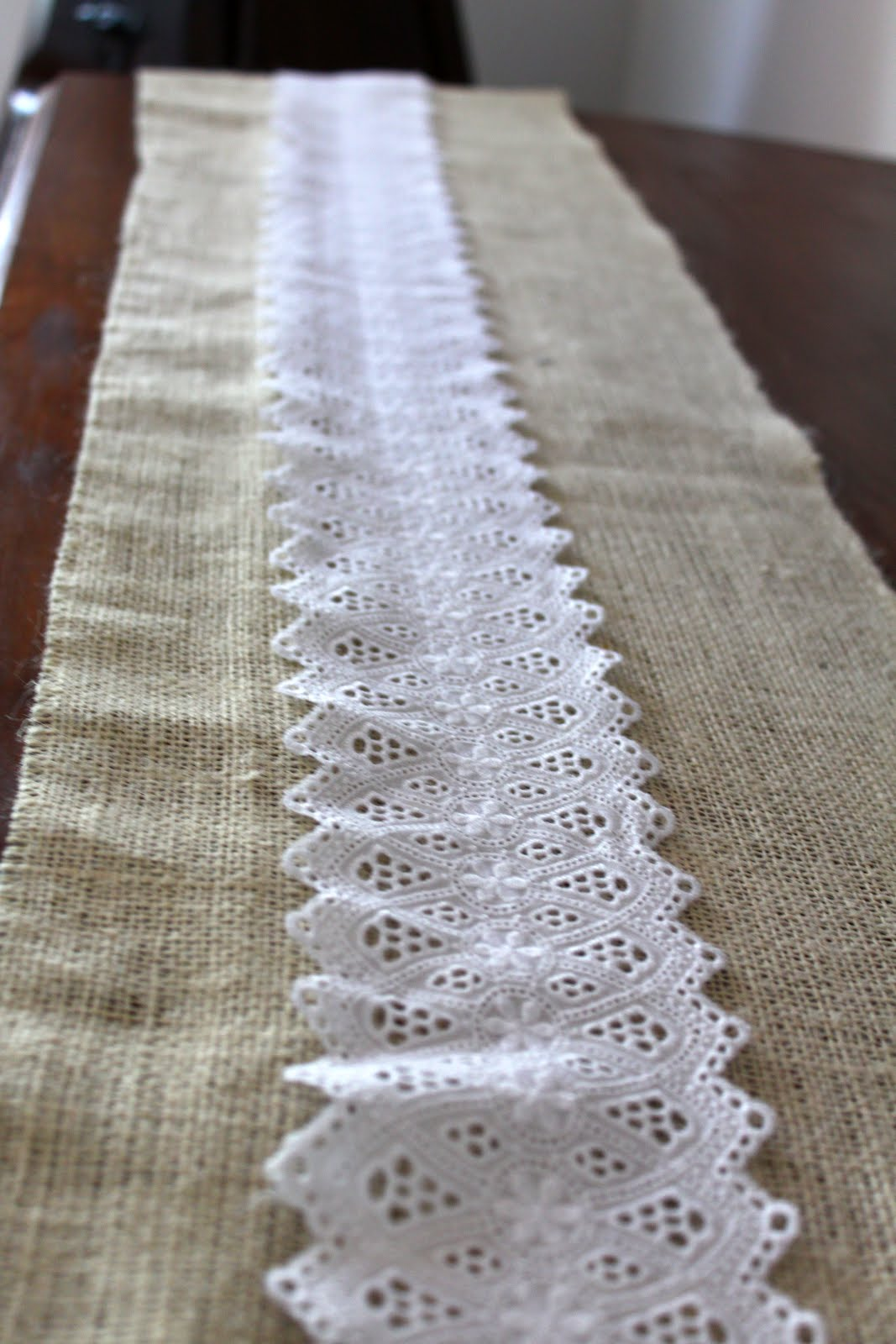 Love and projects burlap and lace for Burlap fabric projects