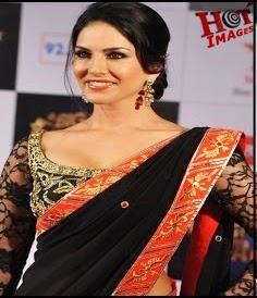 Sunny Leone Sexy PICS in Black Saree