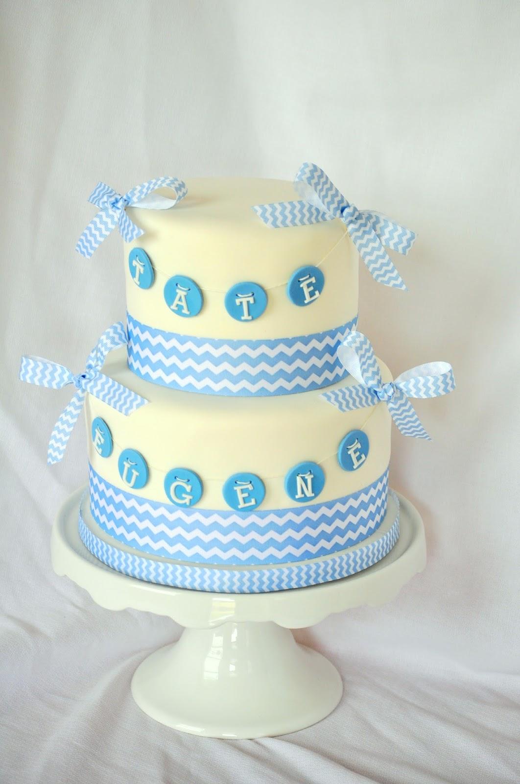 Chevron Baby Shower Cake