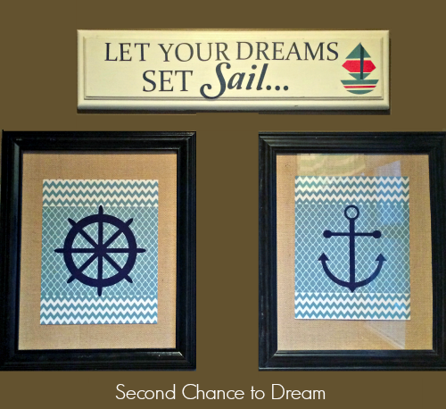 Second Chance to Dream:  Upcycled Nautical Sign  #eathrday #upcycled