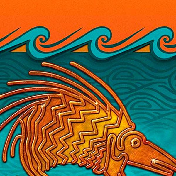 Ilustración y diseño de portada. El puerco espín de oro