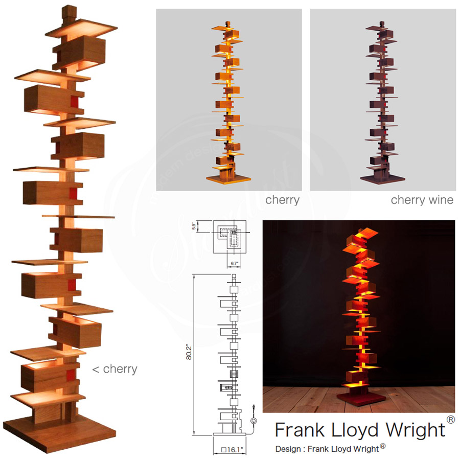 frank lloyd wright 39 s modernist taliesin floor lamp. Black Bedroom Furniture Sets. Home Design Ideas