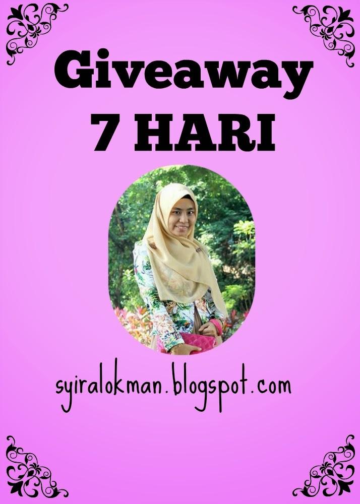 Giveaway 7 HARI by Syira Lokman