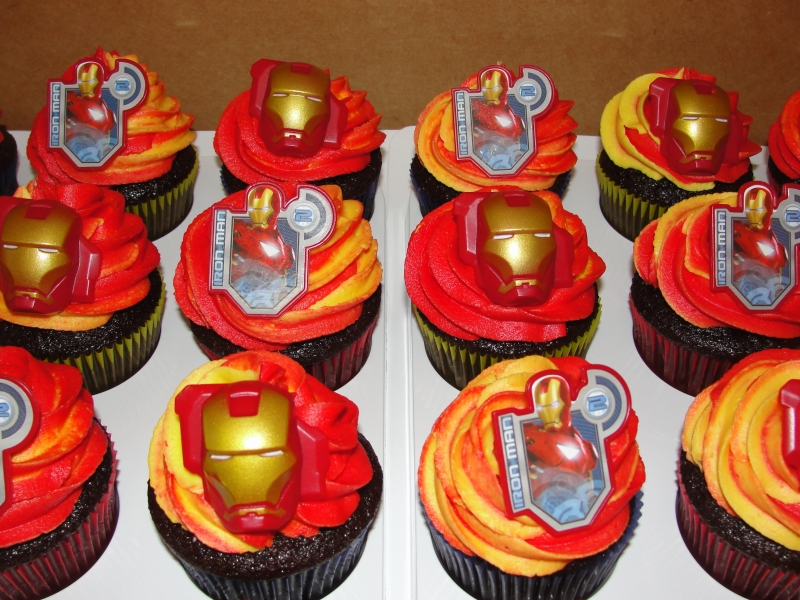 Cupcake Design For Man : Anchors for the Soul: CUPCAKES with an IRON MAN twist...