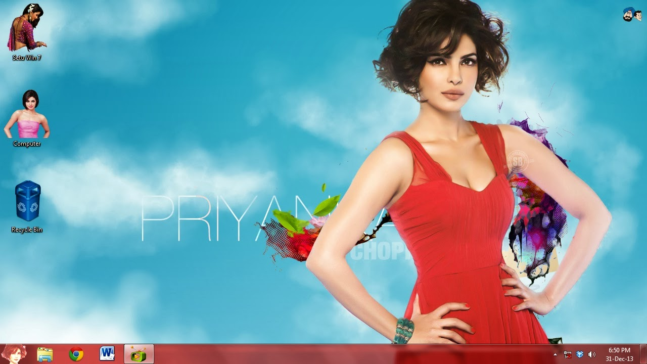 How to make Priyanka Chopra theme for my windows