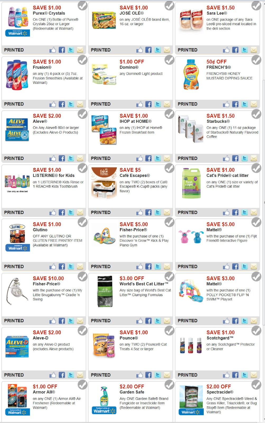Discount coupons for walmart