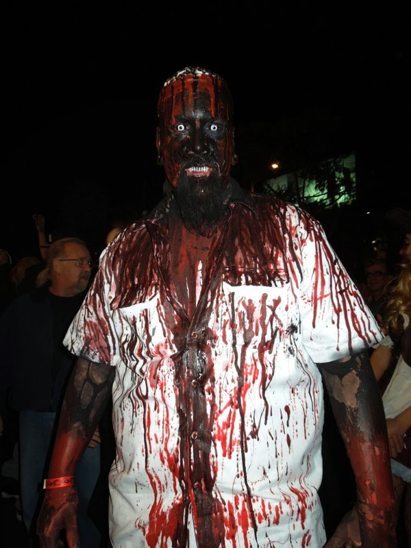 Bloody zombie West Hollywood Halloween Carnaval