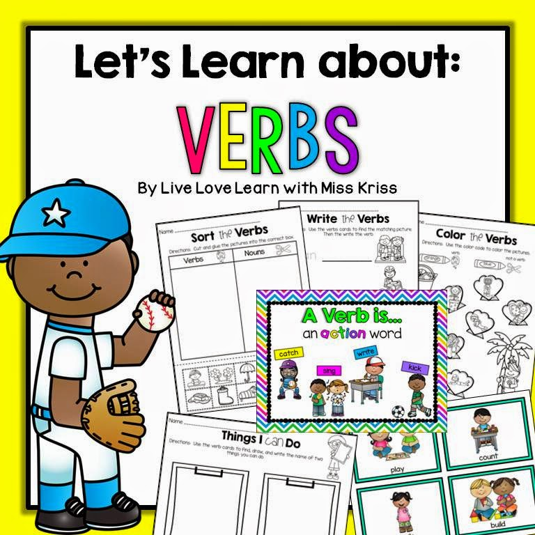 http://www.teacherspayteachers.com/Product/Lets-Learn-About-Verbs-1486905