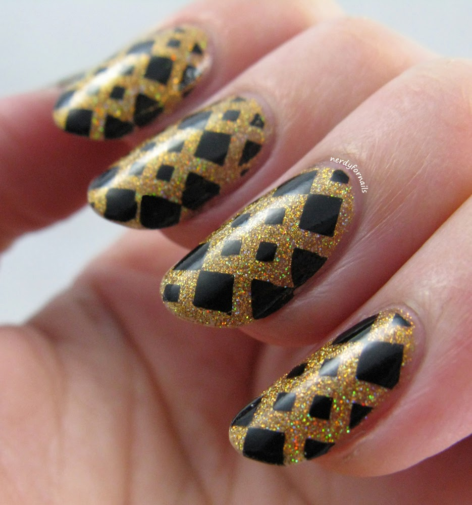 Orly Bling with Bundle Monster Geometric Stamping