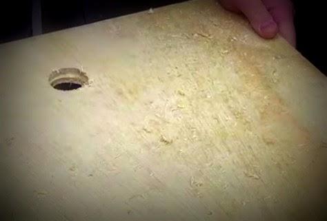 Como fazer sua cabeceira c/capitone - Furo para pendurar