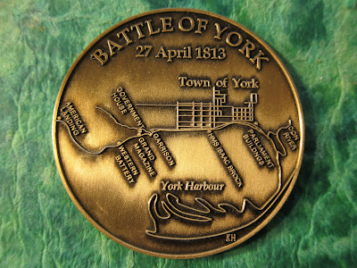 Image: Commemorative Medallion for the 200th anniversary of the Battle of York (reverse)