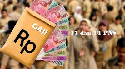 Pembayaran Gaji 13 dan 14 Bagi PNS