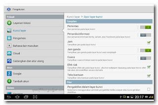 Samsung Galaxy Note 10.1 - pengaturan lockscreen