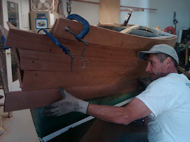 Current Project: 16&#39; Gar Wood Speedster, mahogany planking getting applied to hull