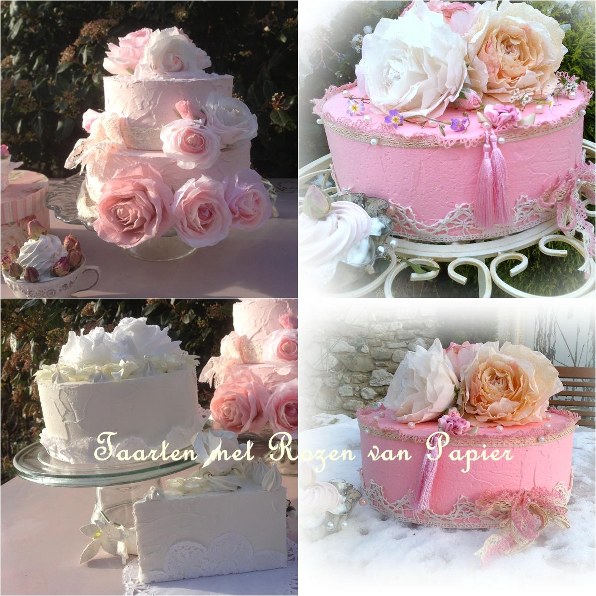 Rozenboetiek rozen van papier om te bestellen decoratie for Taart en decoratie