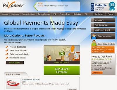 Payoneer Card Activation Process