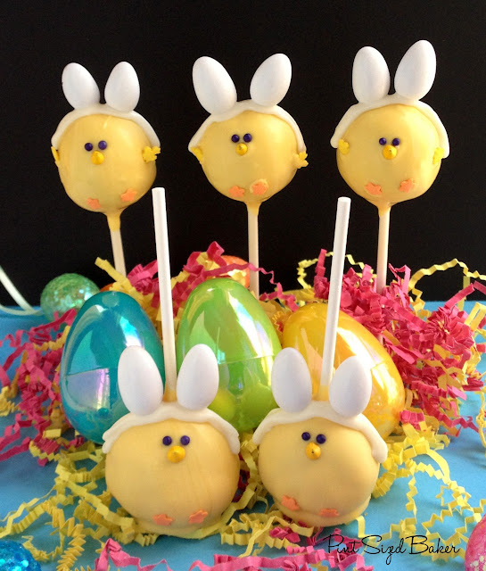 Easter Chick Bunny Cake Pops