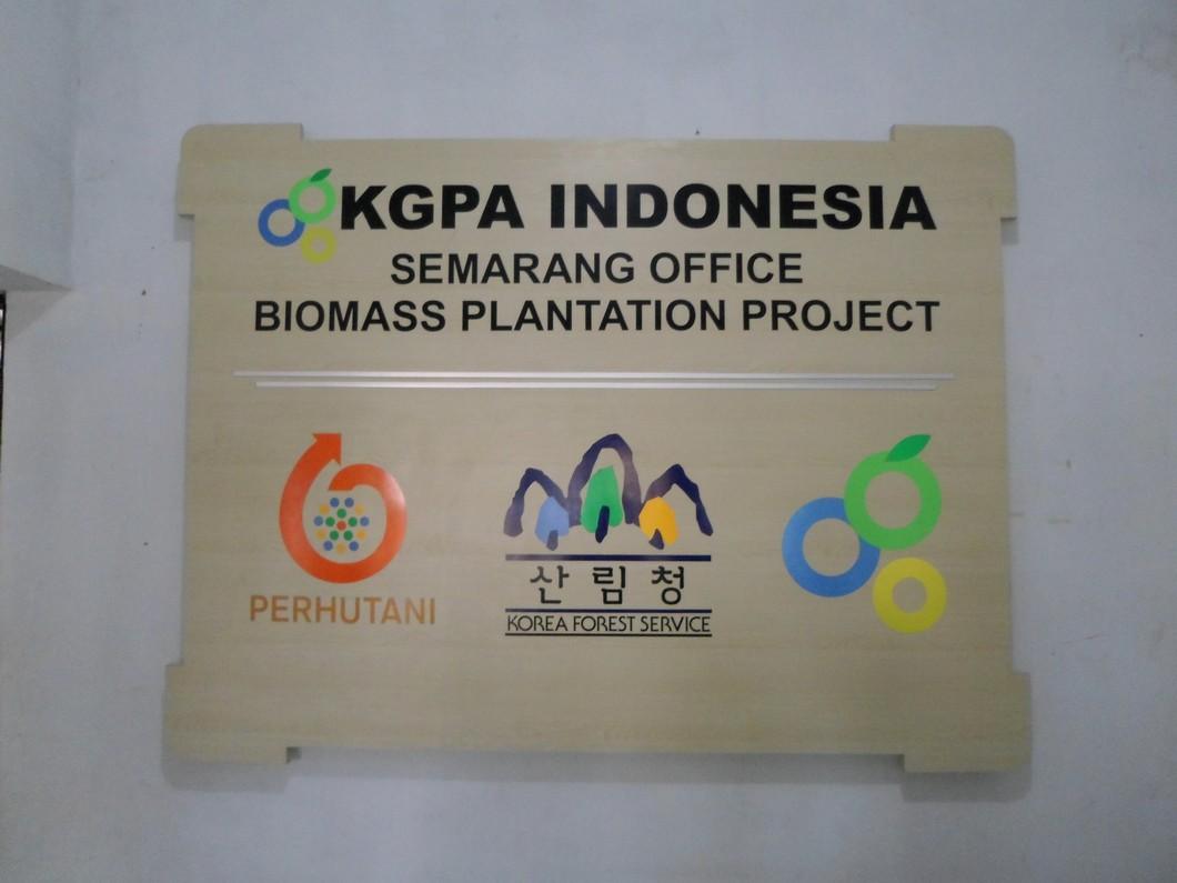 Backdrop Panel (Papan Nama) Perusahaan - Furniture Semarang