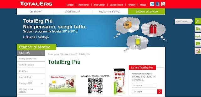 Raccolta Punti TotalErg Più 2012 2013