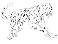 Jumping Jaguar Realistic Kids Coloring Pages
