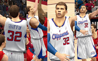 NBA 2K13 L.A. Clippers Home Jersey Mod