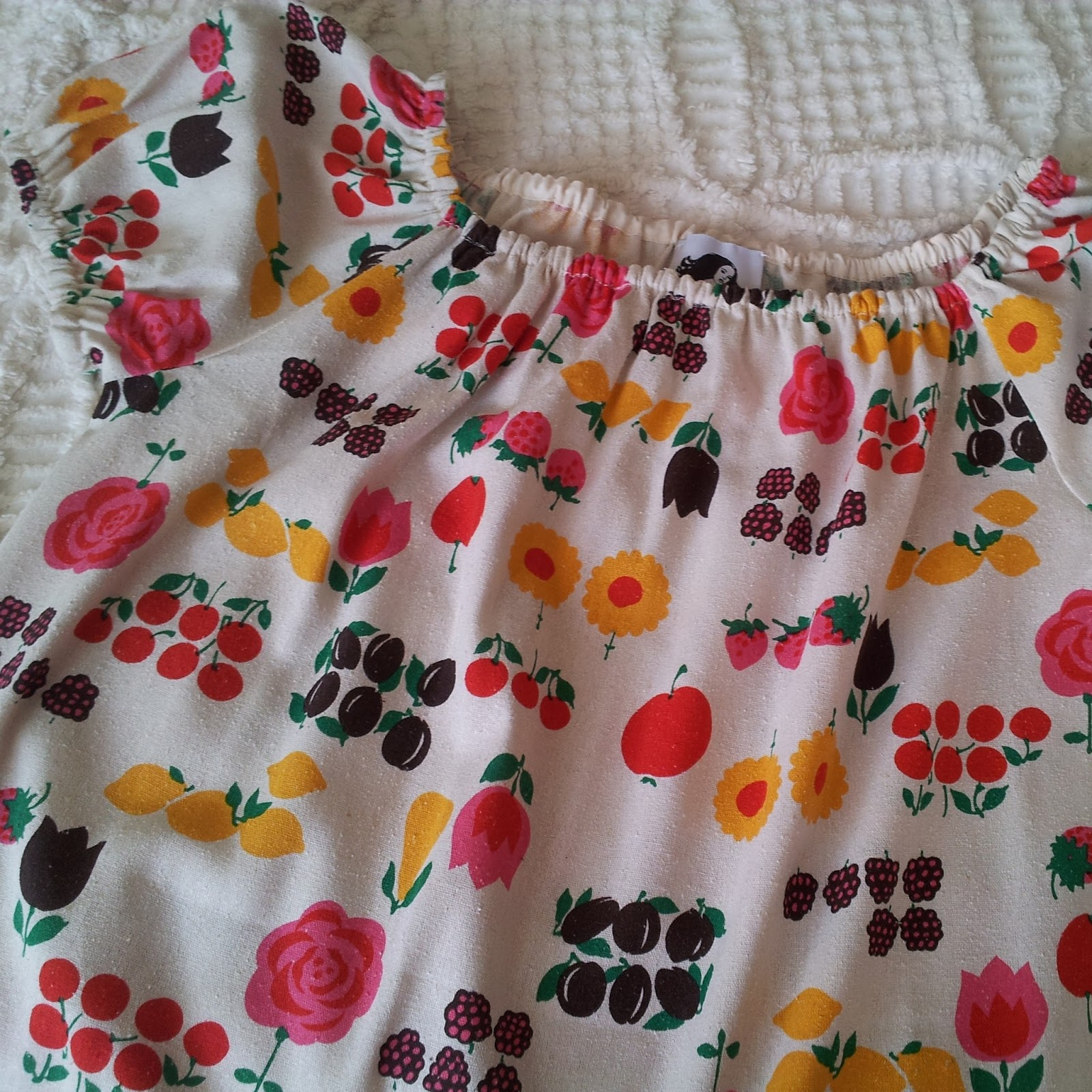 My Projects: Fruity Peasant Blouse via Bobbins and Bombshells