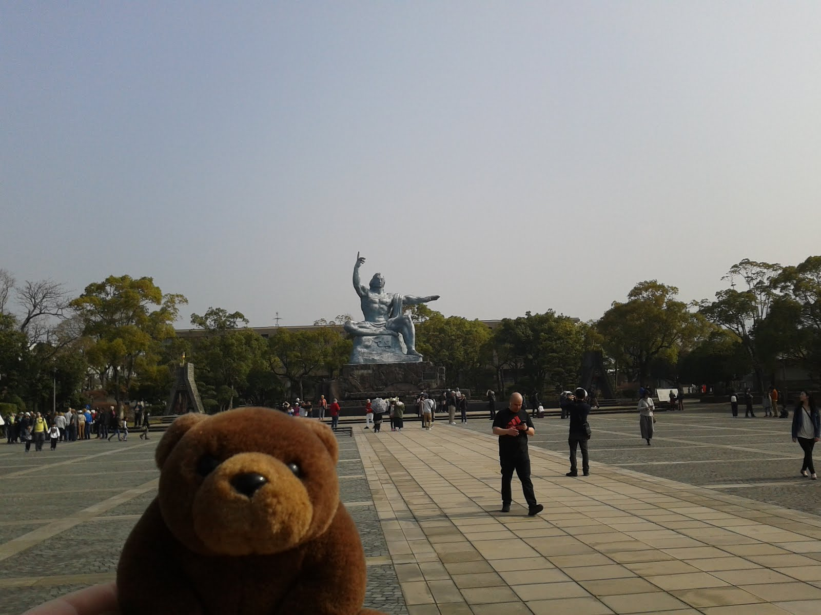 Teddy in Peace Park, Nagasaki