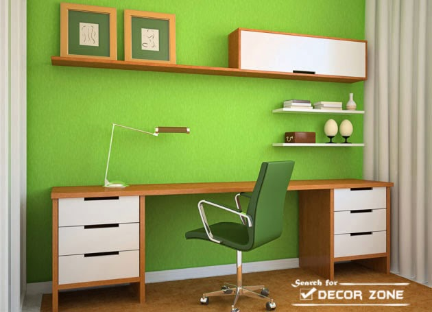 15 small office design ideas and decorating tips - Small office paint color ideas ...