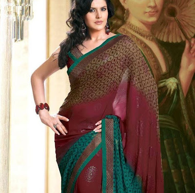 zarine khan in saree latest photos
