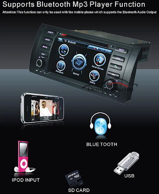 bmw e39 dvd navigation with radio,mp3 player,bluetooth,ipod,usb funciton