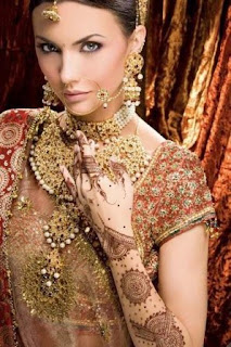 latest mehndi for brides